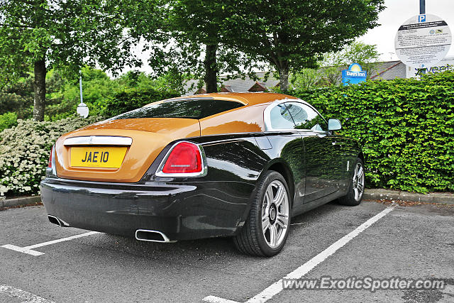 Rolls-Royce Wraith spotted in Tibshelf, United Kingdom