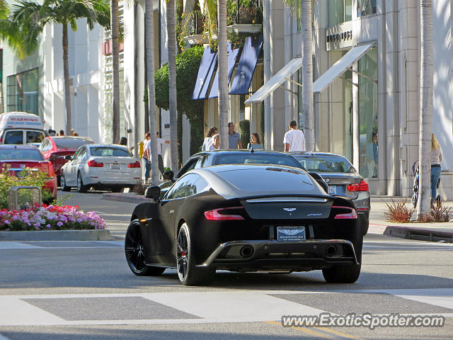 Aston Martin Vanquish spotted in Beverly Hills, California