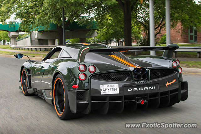 Pagani Huayra spotted in Boston, Massachusetts