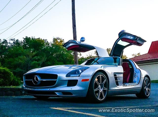 Mercedes SLS AMG spotted in Pittsford, New York