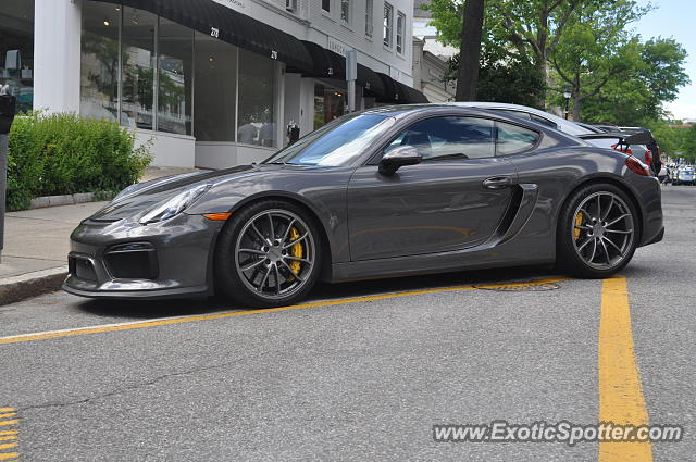Porsche Cayman GT4 spotted in Greenwich, Connecticut