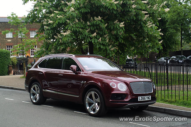 Bentley Bentayga spotted in London, United Kingdom