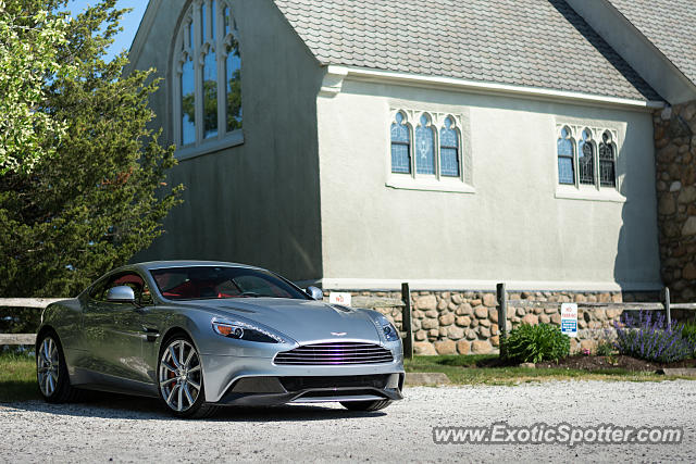 Aston Martin Vanquish spotted in Cape Cod, Massachusetts