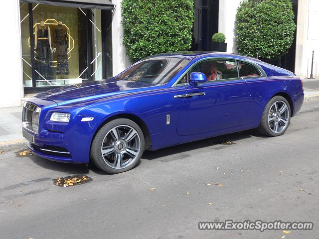 Rolls-Royce Wraith spotted in Paris, France