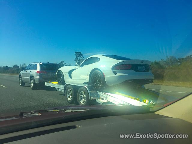 Dodge Viper spotted in I-95, South Carolina