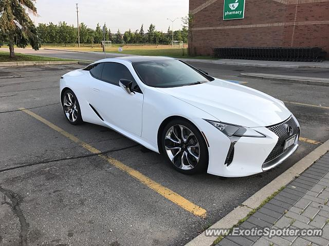 Lexus LC 500 spotted in Oakville, Canada