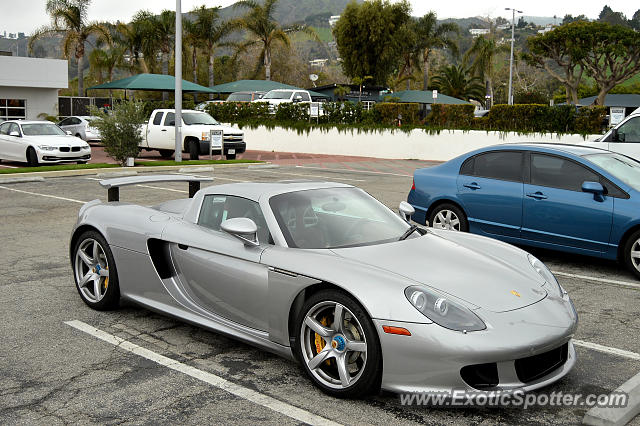 Porsche Carrera GT spotted in Malibu, California