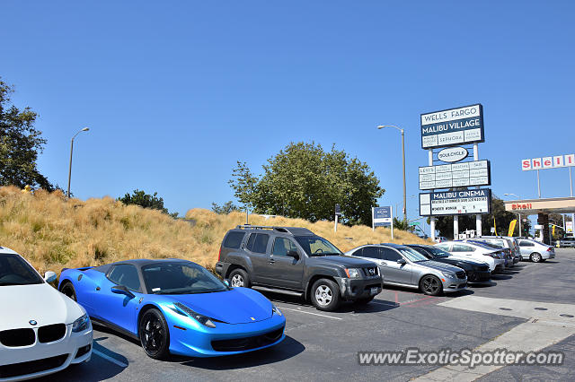 Ferrari 458 Italia spotted in Malibu, California