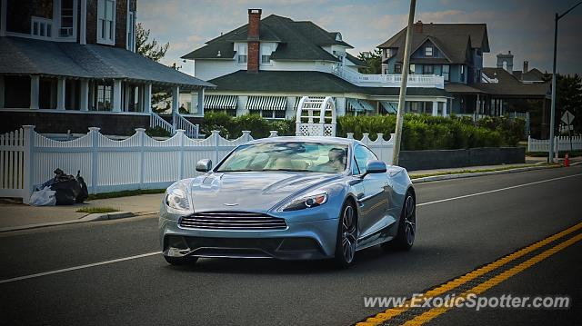 Aston Martin Vanquish spotted in Monmouth Beach, New Jersey