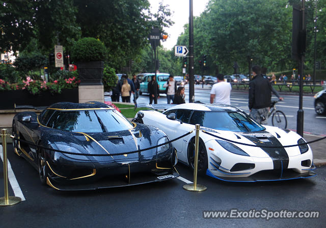 Koenigsegg Agera R spotted in London, United Kingdom