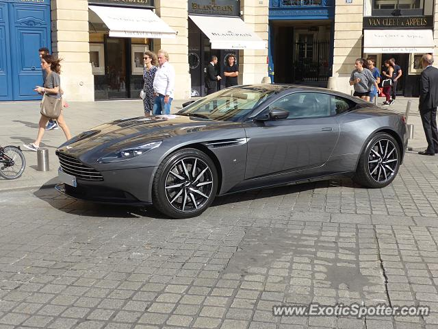 aston martin db11 spotted in paris france on 07 29 2017. Black Bedroom Furniture Sets. Home Design Ideas