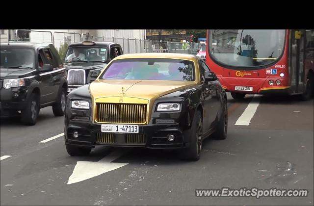 Rolls-Royce Wraith spotted in London, United Kingdom