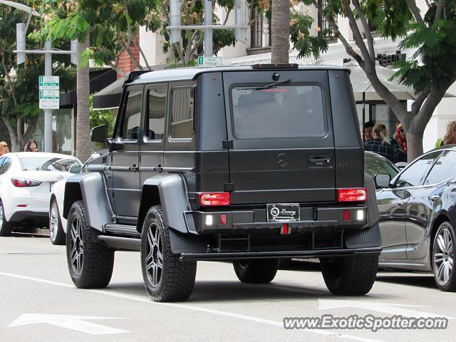 Mercedes 4x4 Squared spotted in Beverly Hills, California
