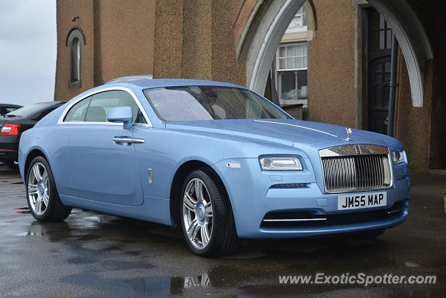 Rolls-Royce Wraith spotted in Tintagel, United Kingdom