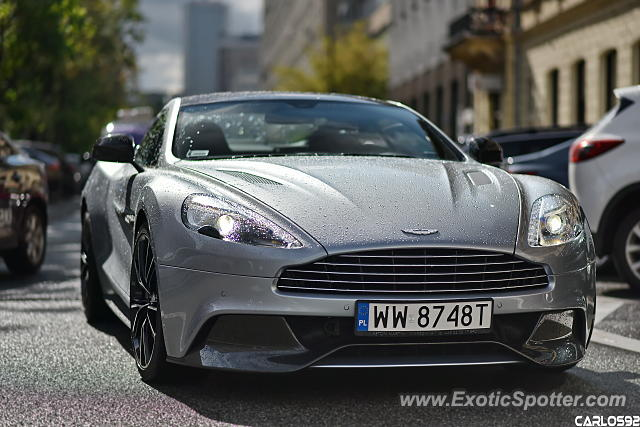 Aston Martin Vanquish spotted in Warsaw, Poland