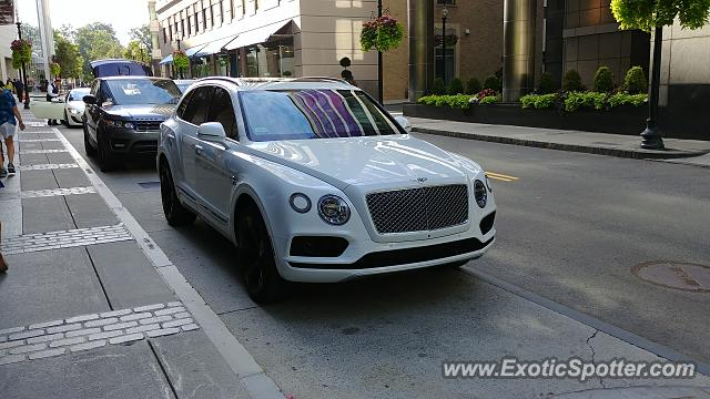Bentley Bentayga spotted in Boston, Massachusetts