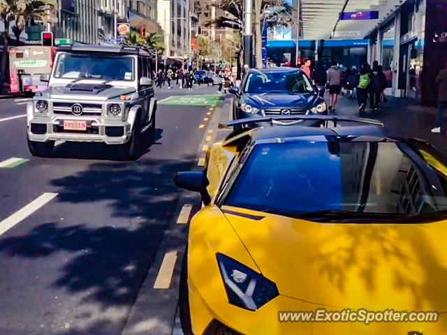 Lamborghini Aventador spotted in Auckland, New Zealand