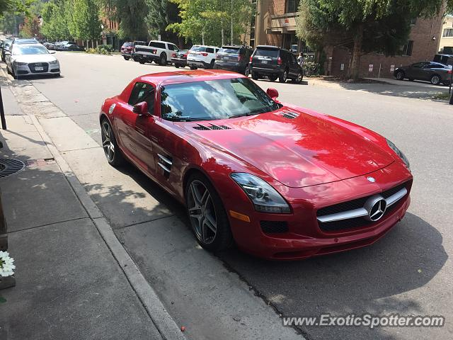 Mercedes SLS AMG spotted in Aspen, Colorado