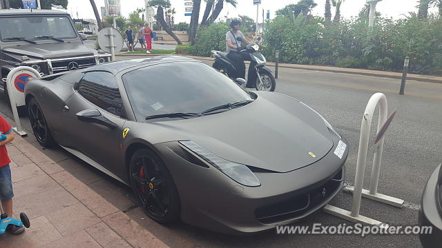 Ferrari 458 Italia spotted in Cannes, France