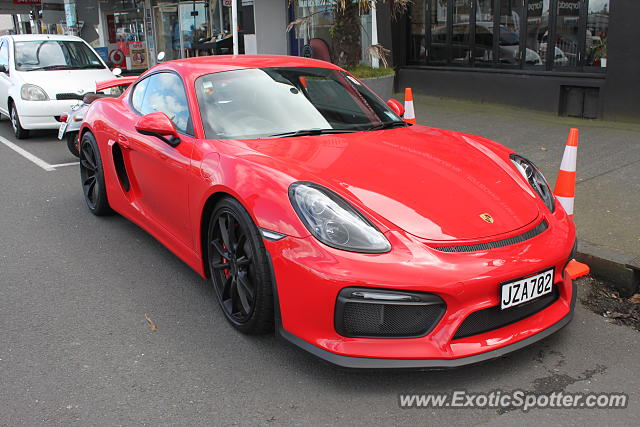 Porsche Cayman GT4 spotted in Auckland, New Zealand