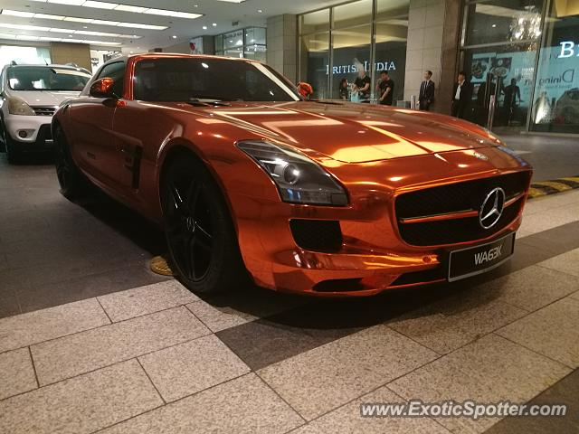 Mercedes SLS AMG spotted in Kuala Lumpur, Malaysia