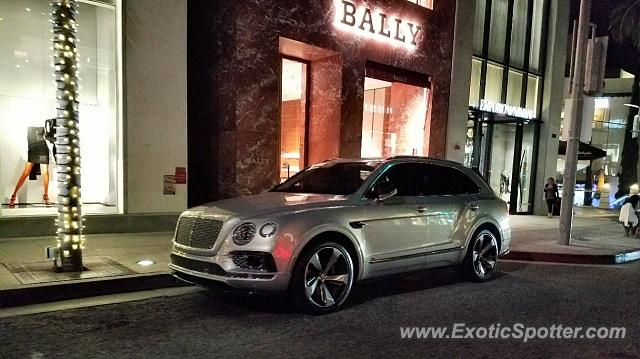 Bentley Bentayga spotted in Los Angeles, California