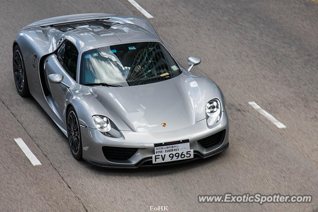 Porsche 918 Spyder spotted in Hong Kong, China