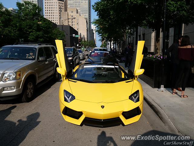 Lamborghini Aventador spotted in Chicago, United States