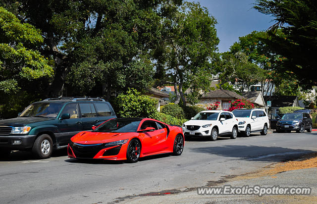 Acura NSX spotted in Carmel, California