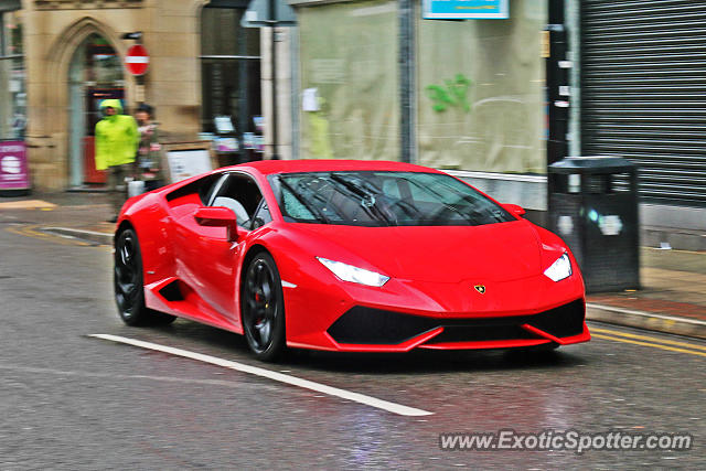 Lamborghini Huracan spotted in Manchester, United Kingdom