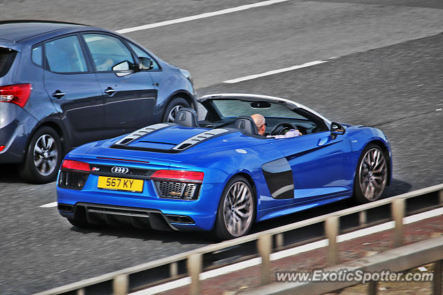 Audi R8 spotted in M20, United Kingdom