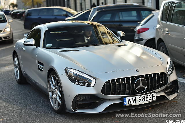 Mercedes AMG GT spotted in Warsaw, Poland