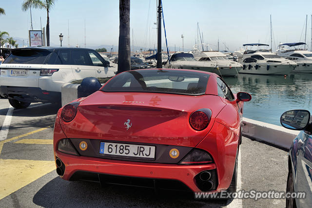 Ferrari California spotted in Puerto Banus, Spain