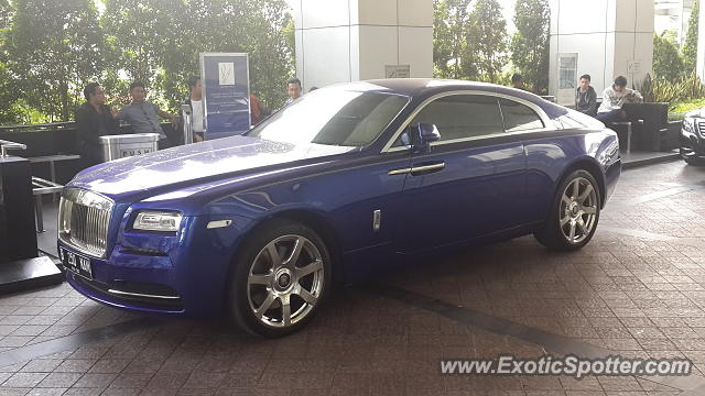 Rolls-Royce Wraith spotted in Jakarta, Indonesia