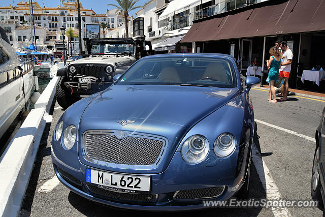 Bentley Continental spotted in Puerto Banus, Spain