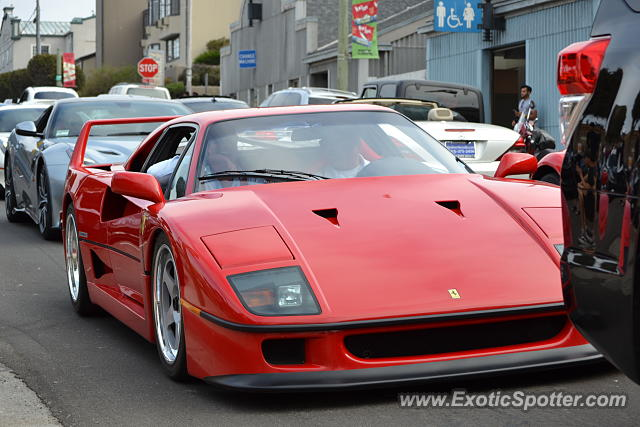 Ferrari F40 spotted in Monterey, California