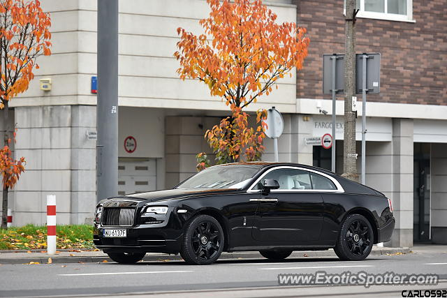 Rolls-Royce Wraith spotted in Warsaw, Poland