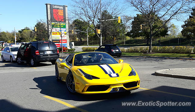 Ferrari 458 Italia spotted in Port Credit, Canada