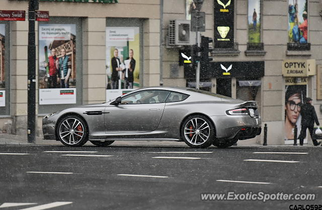 Aston Martin DBS spotted in Warsaw, Poland