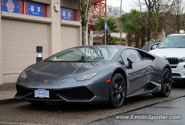 Lamborghini Huracan spotted in Vancouver, Canada