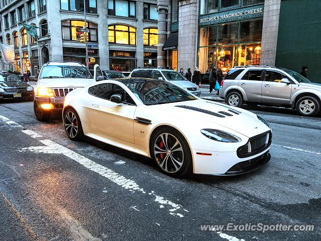 Aston Martin Vantage spotted in Manhattan, New York
