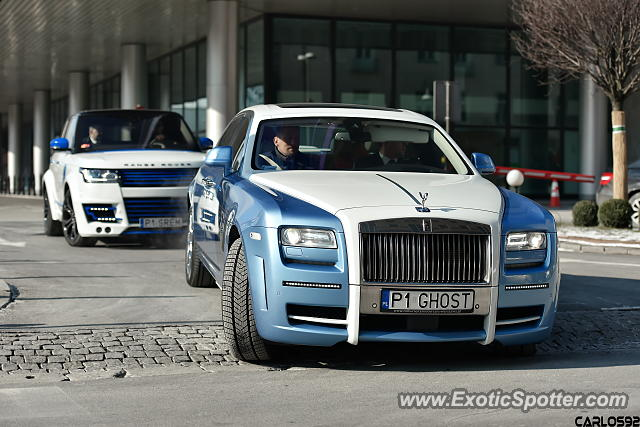 Rolls-Royce Ghost spotted in Warsaw, Poland