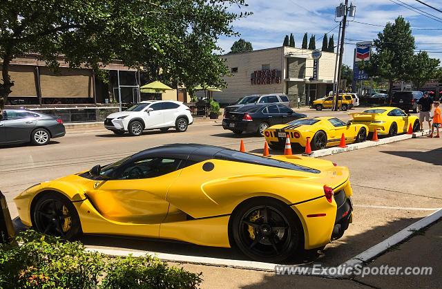 Ferrari Laferrari Spotted In Dallas Texas On 08 27 2016