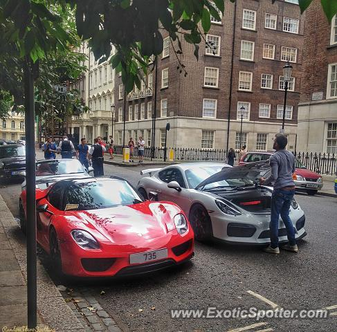 Porsche 918 Spyder spotted in London, United Kingdom