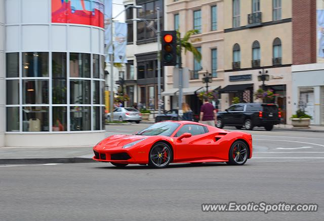 Ferrari 488 GTB spotted in Beverly Hills, California