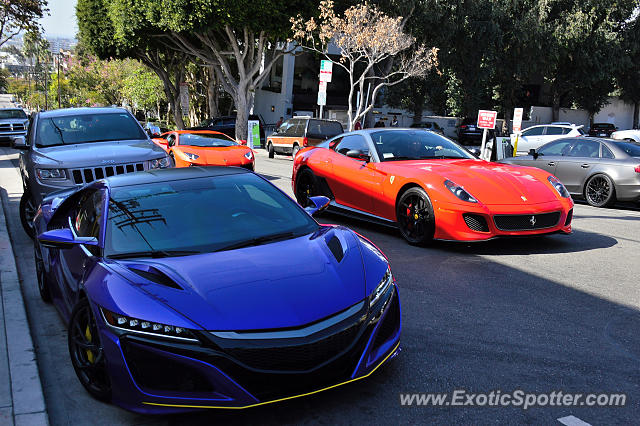 Acura NSX spotted in Los angeles, California