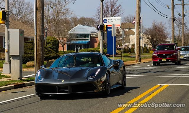 Ferrari 488 GTB spotted in Spring Lake, New Jersey