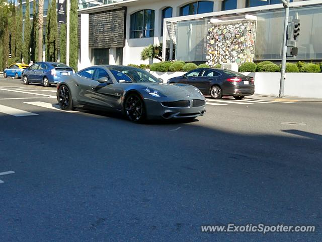 Fisker Karma spotted in Hollywood, California