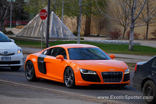 Audi R8 spotted in Edmonton, Canada