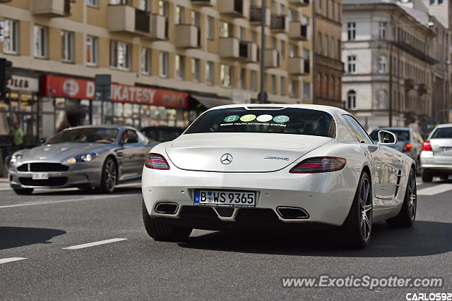 Mercedes SLS AMG spotted in Warsaw, Poland